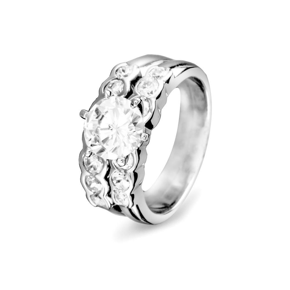 Zilveren damesring met zirkonia 625561013