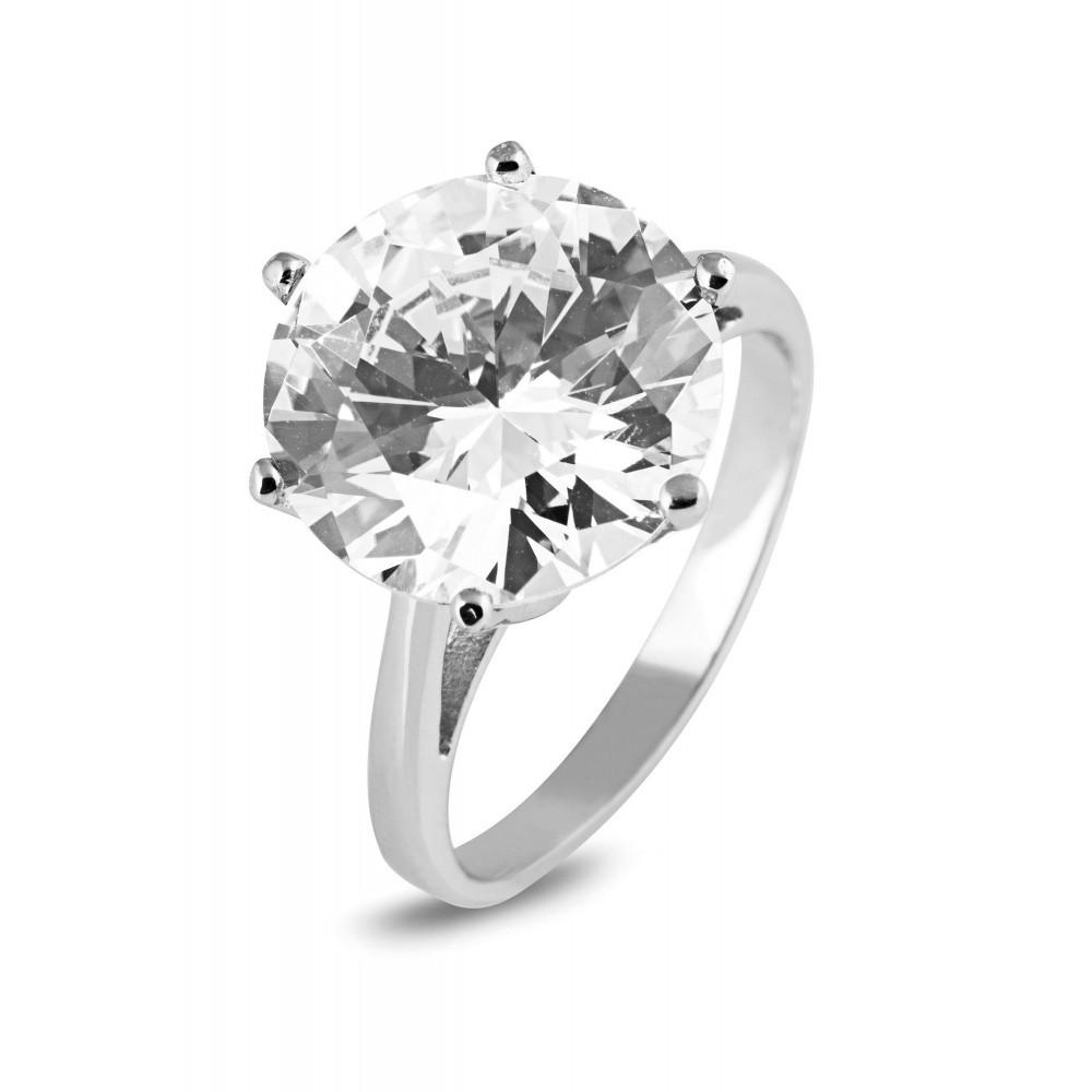 Zilveren damesring met zirkonia 625561021