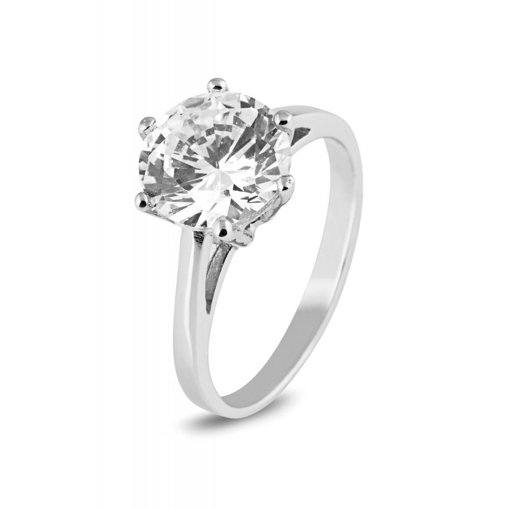 Zilveren damesring met zirkonia 625561022