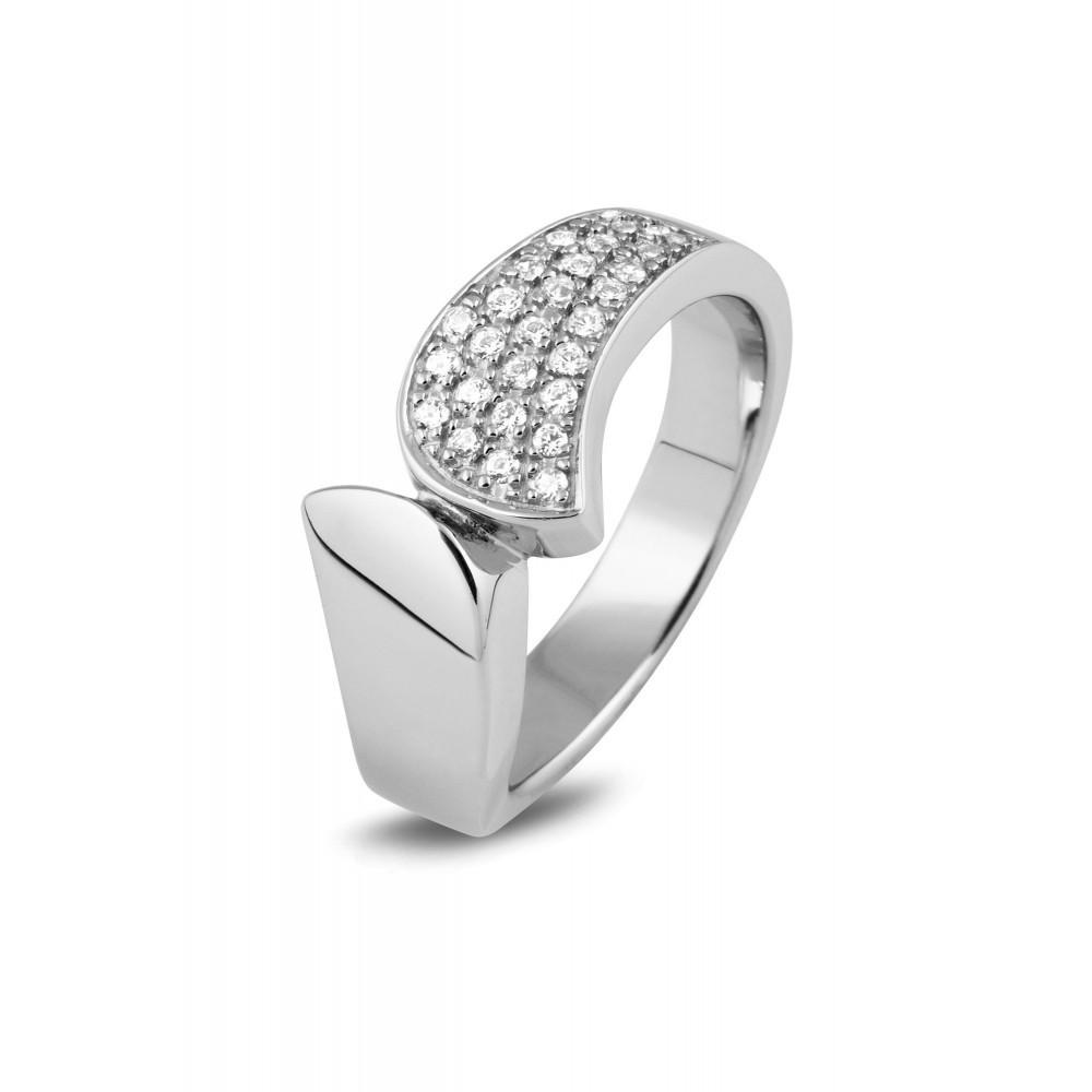 Zilveren ring met zirkonia 625562012