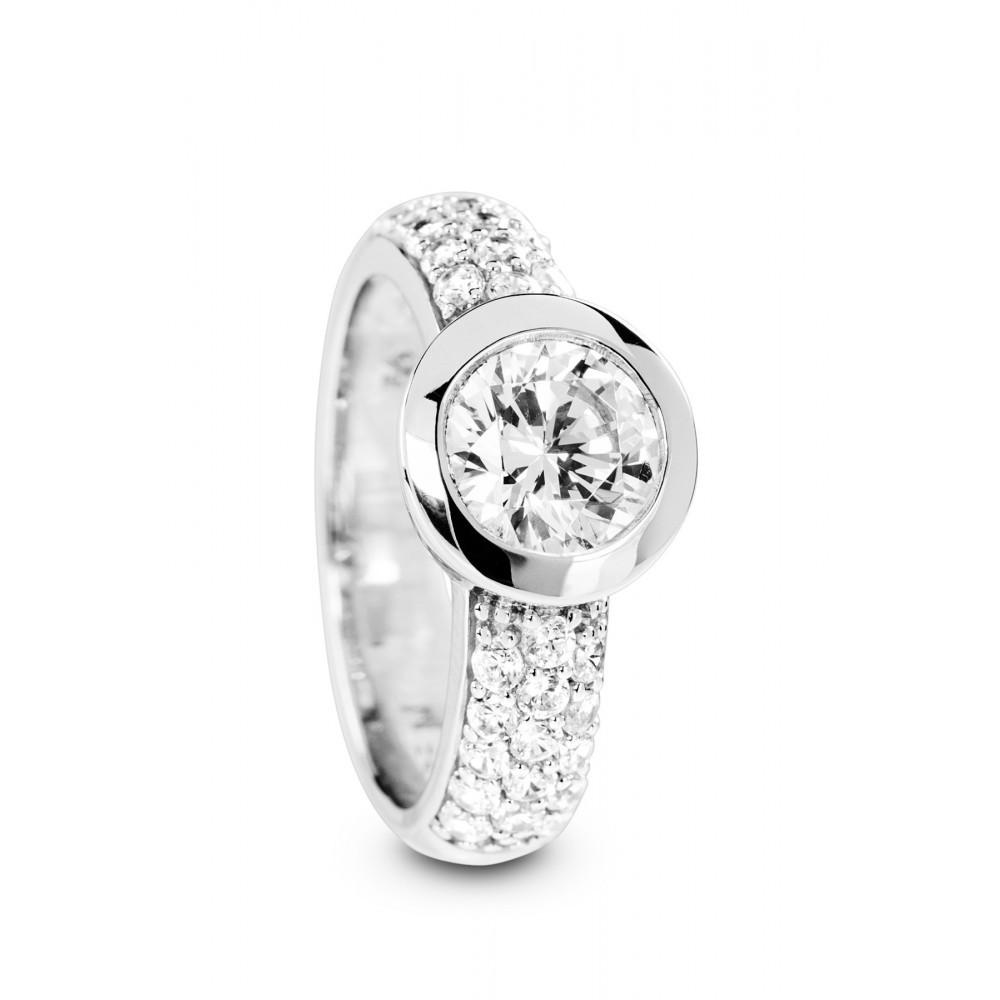 Zilveren ring met zirkonia 625562014