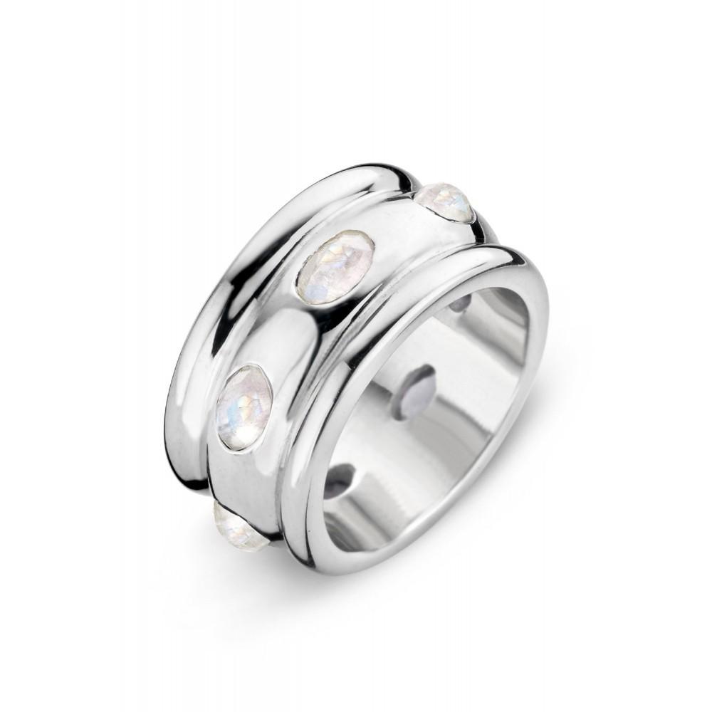 Zilveren ring met blauwe topaas 6262PR956