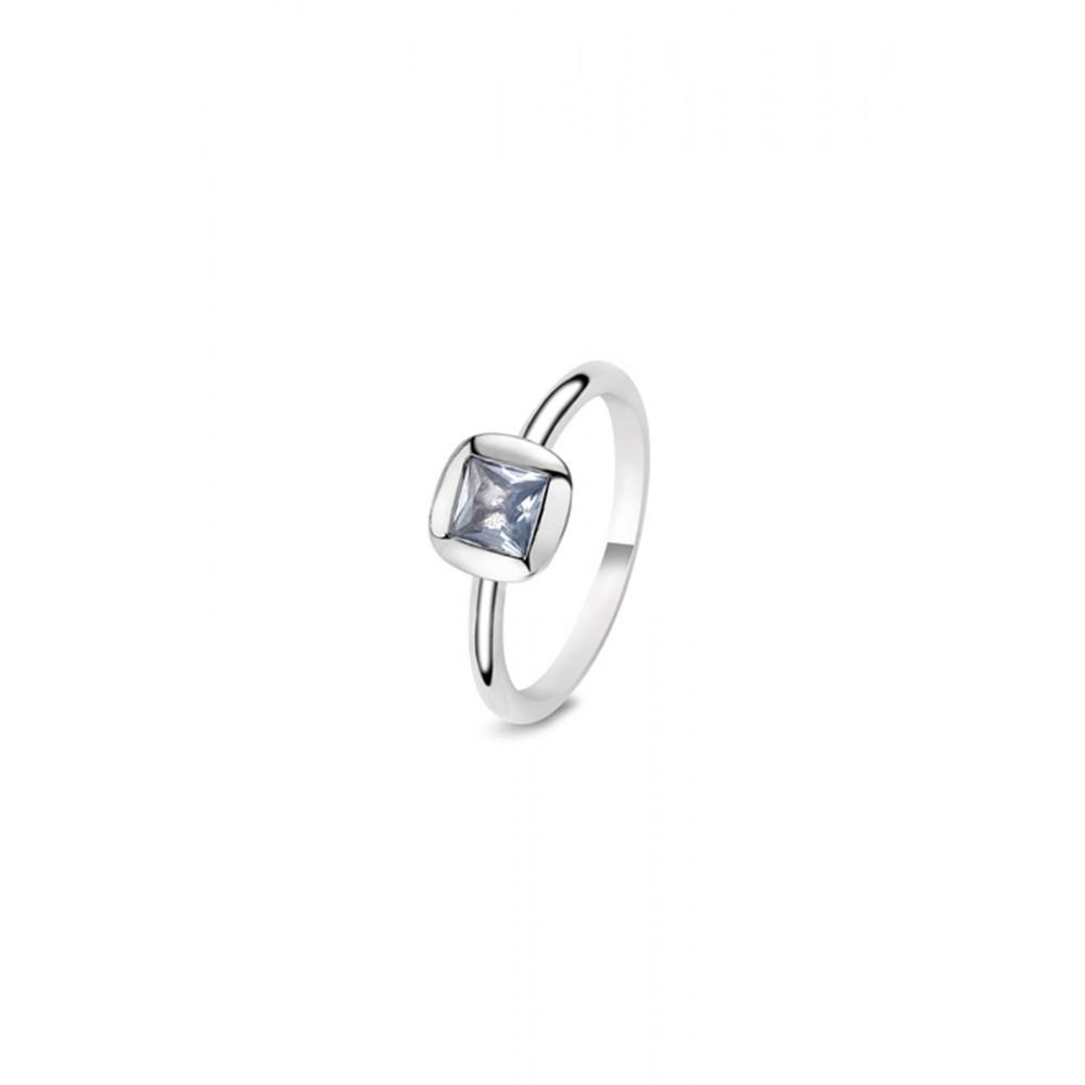 Zilveren ring met blauwe zirkonia 626652149