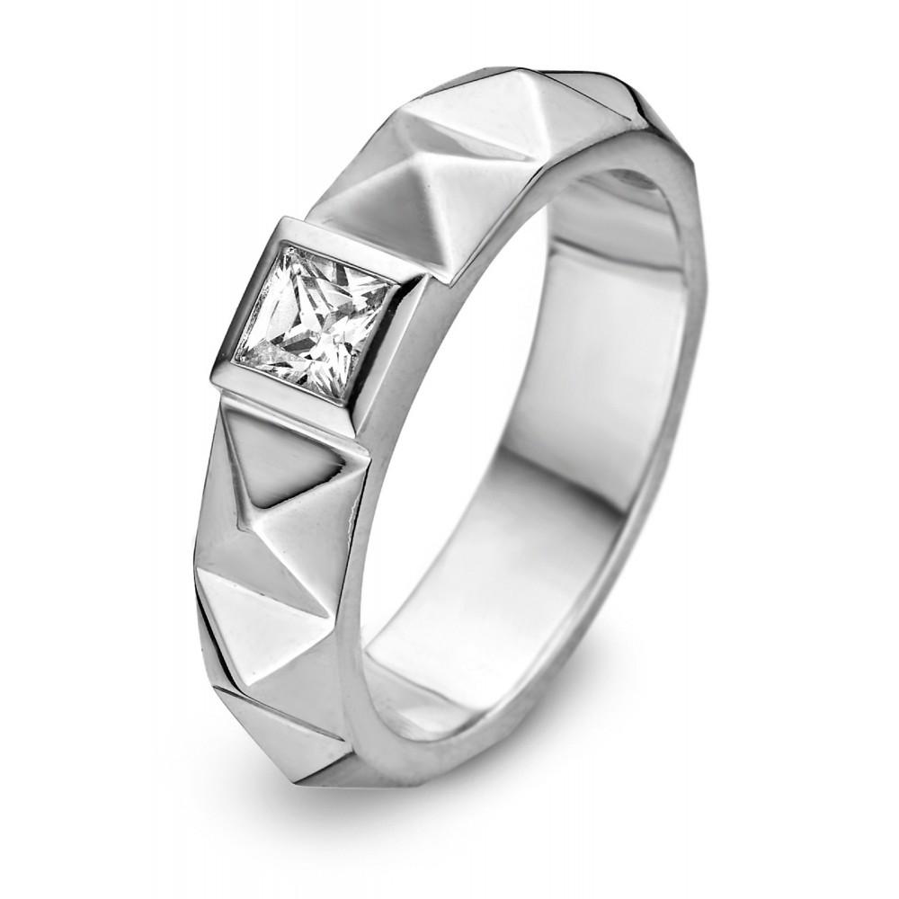 Zilveren damesring met zirkonia 627210016