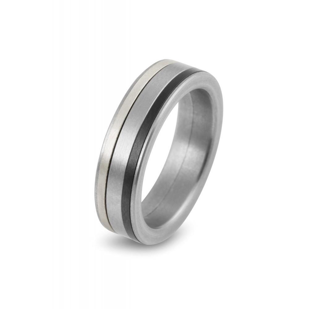 Zilverkleurige stalen damesring 8027-5MM